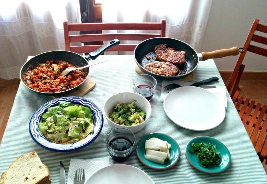 pork & fresh veggie sauce