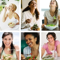 Body image, health trends and weight loss. And women laughing at salads, ofc.
