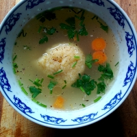 Romanian dumpling chicken soup
