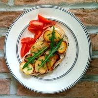 Sunday tartine: golden turnip, Gorgonzola, chives & ruccola