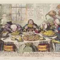 Food in political cartoons: depicting society. Main themes and evolution