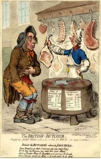 The British Butcher by James Gillray, 1795
