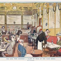 The girl that ordered a glass milk at the Café Royal, H.M. Bateman (1887-1970)