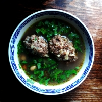Armenian lamb and prune meatballs soup: rediscover real food