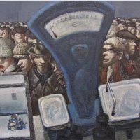 """Queue""-  Vasily Kolotev, USSR, 1985"